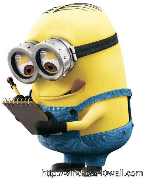 Minions Makes a Note Wallpaper