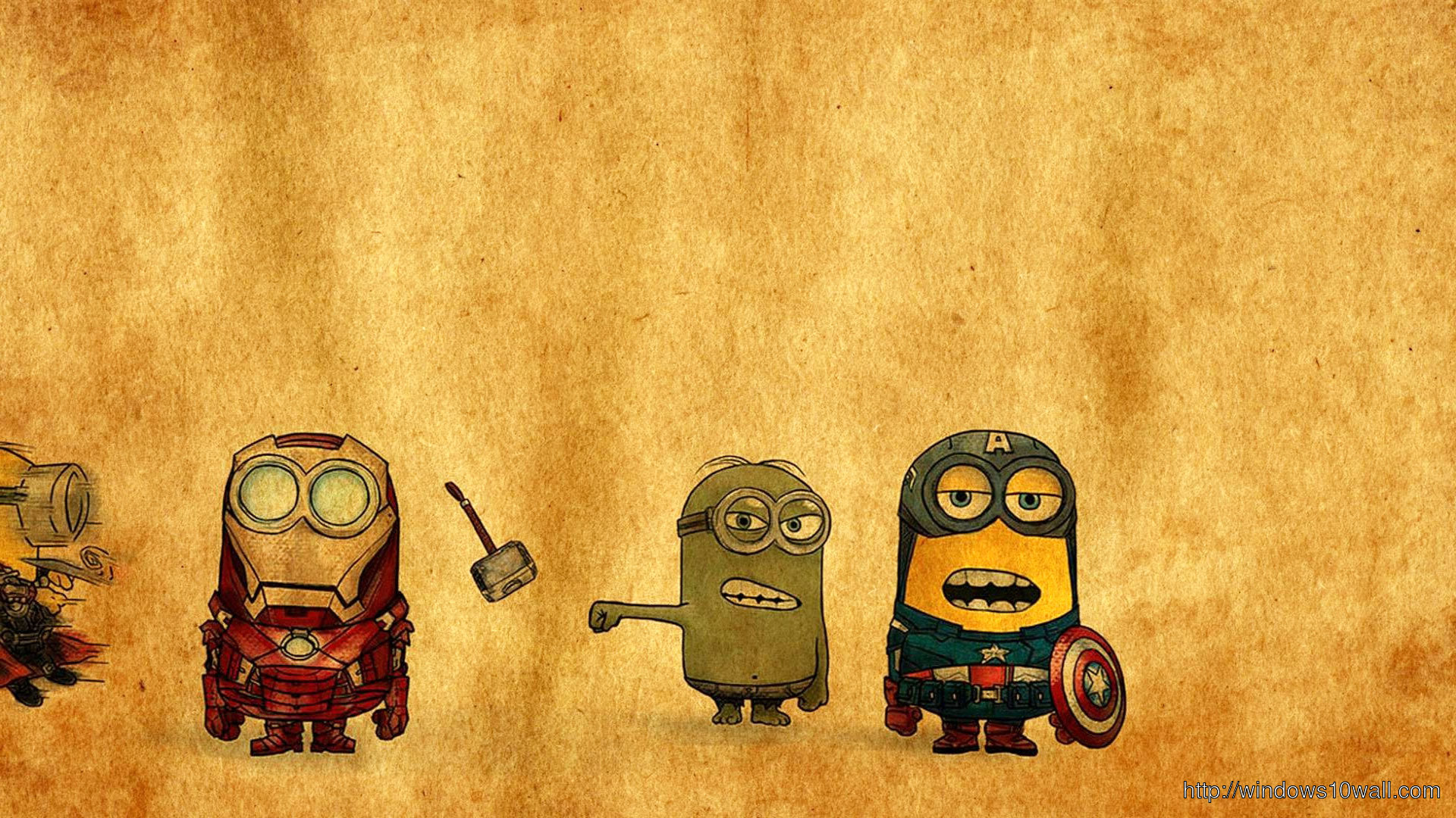 Minions Avengers Background Wallpaper