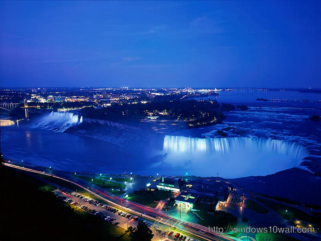 At Night Canada Wallpaper