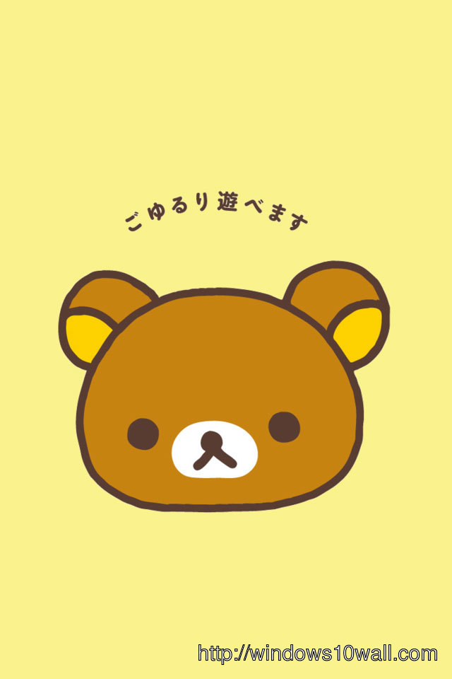 Rilakkuma CuteiPhone Background Wallpaper
