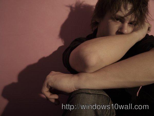 new sad wallpaper of boy download free