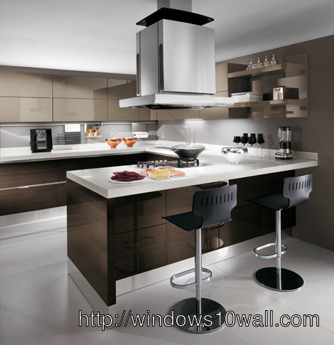 European Kitchen Design Background Wallpaper