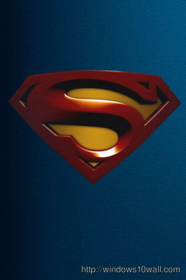 Superman iPhone 5 Background Wallpaper