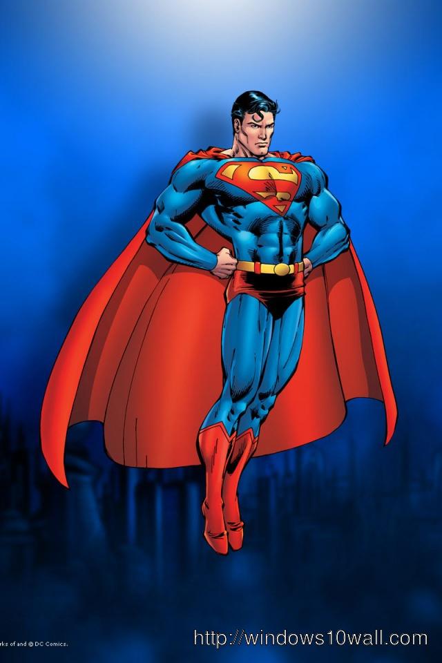 640x960 Superman Iphone 4 background wallpaper