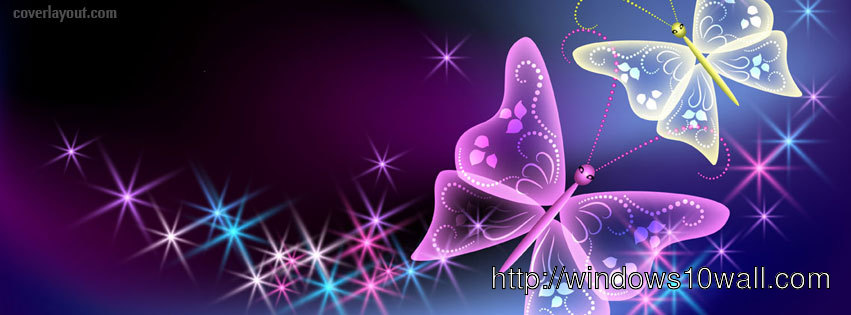 Two Pretty Cute Butterflies Facebook Background Cover ...