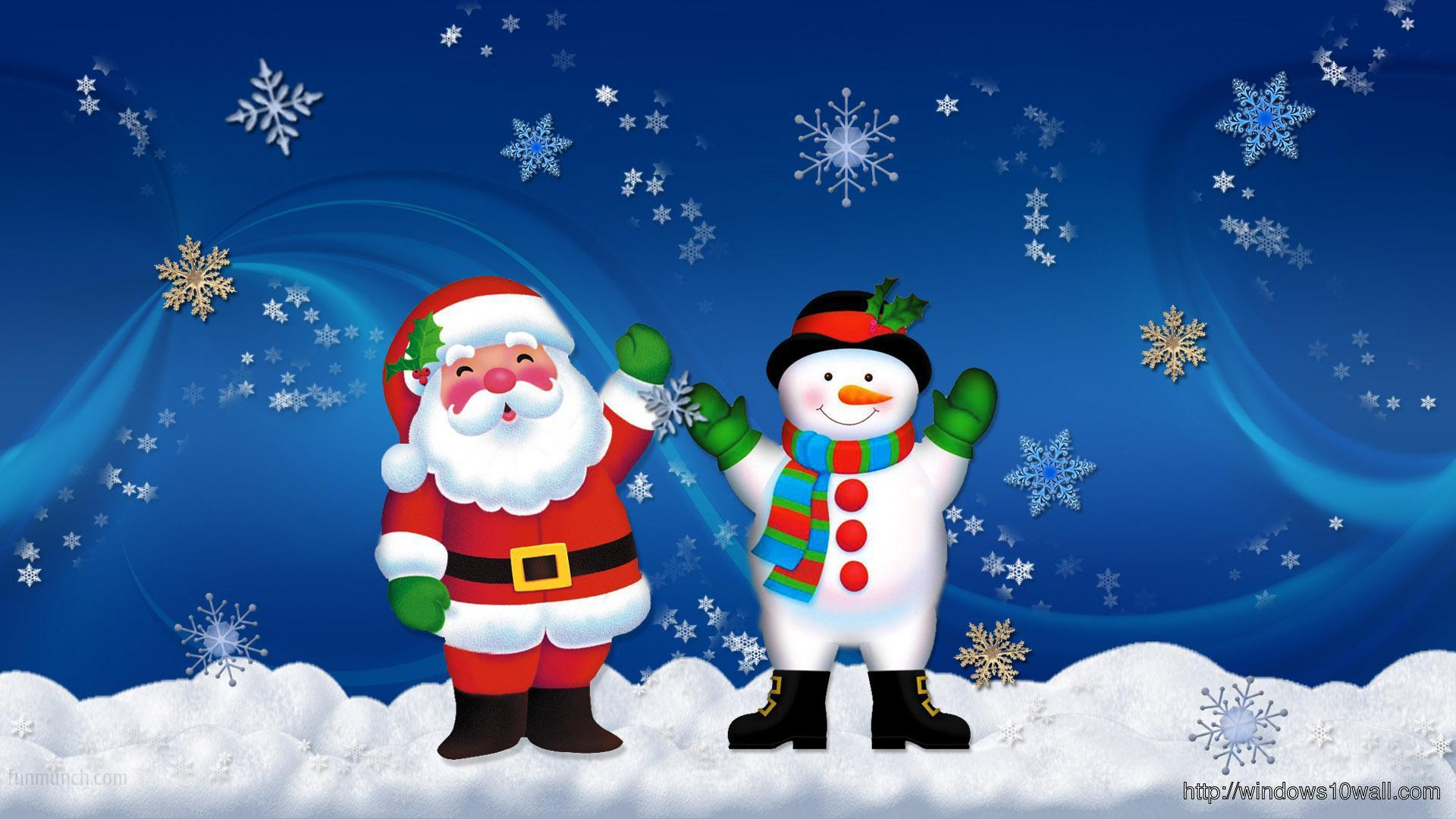 Christmas Background Wallpaper with Santa