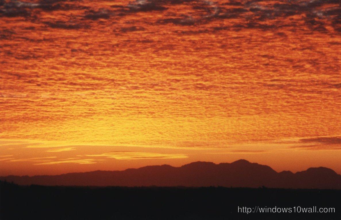 sunrise stunner over mountains
