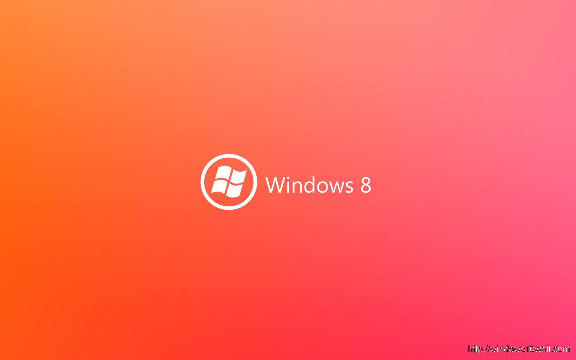 Windows 9 Orange Magenta Background Wallpaper