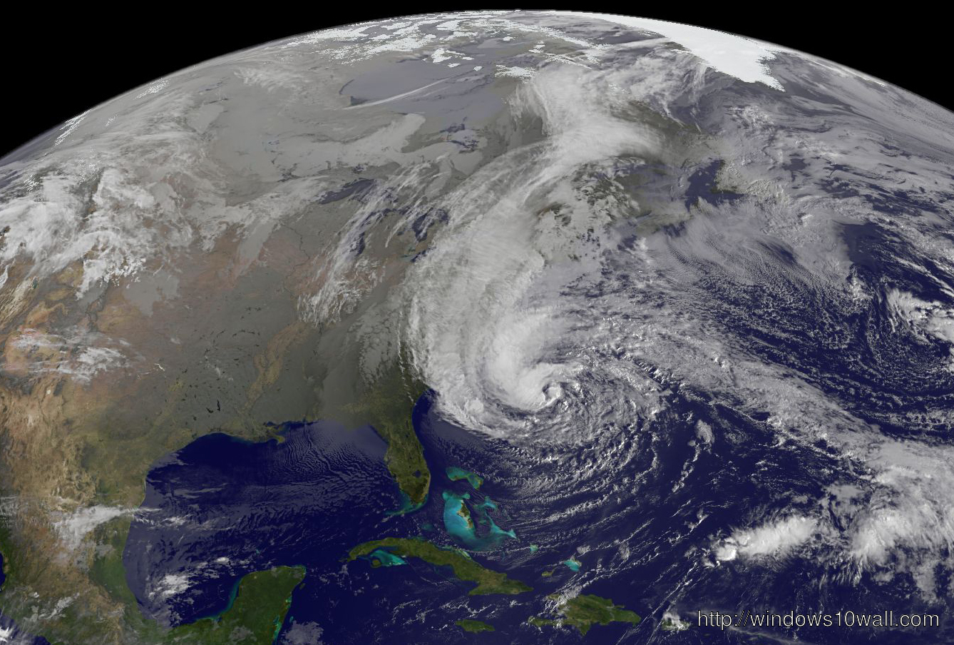 Hurricane Sandy Global Map View