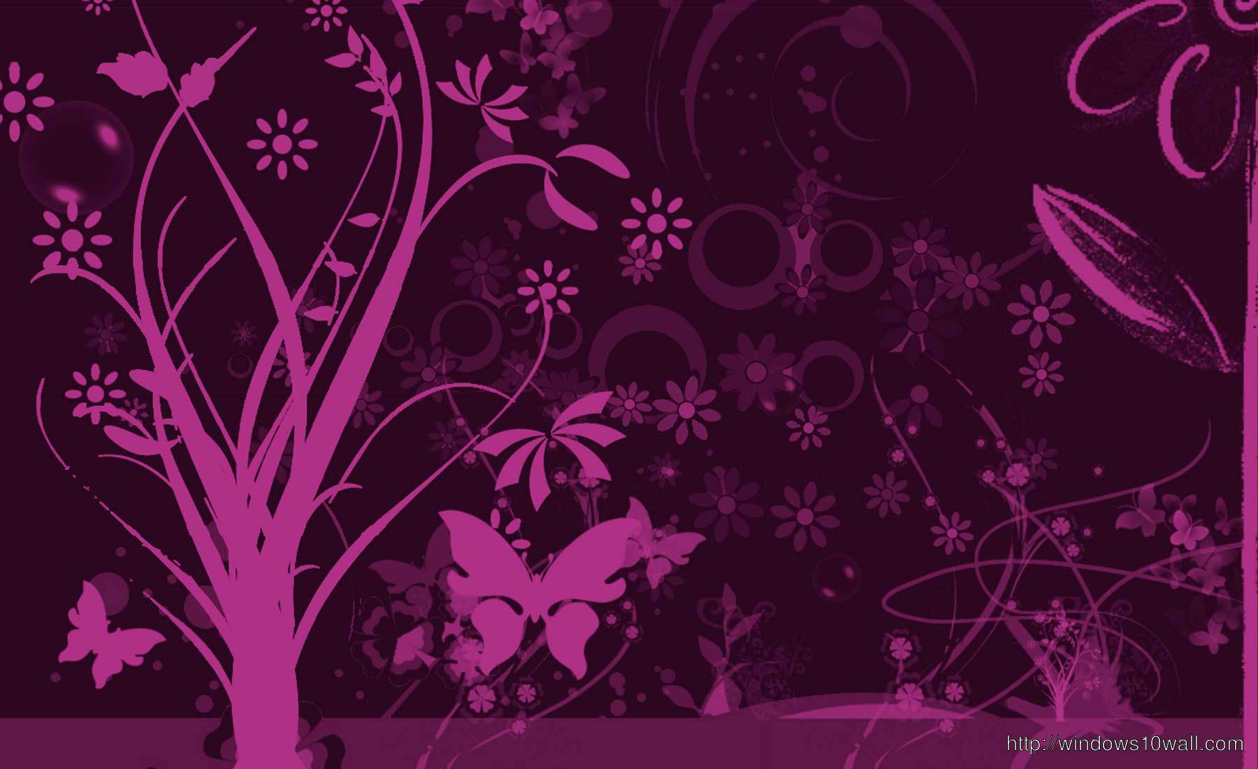 Abstract Purple Tree Butterfly Twitter Background Wallpaper