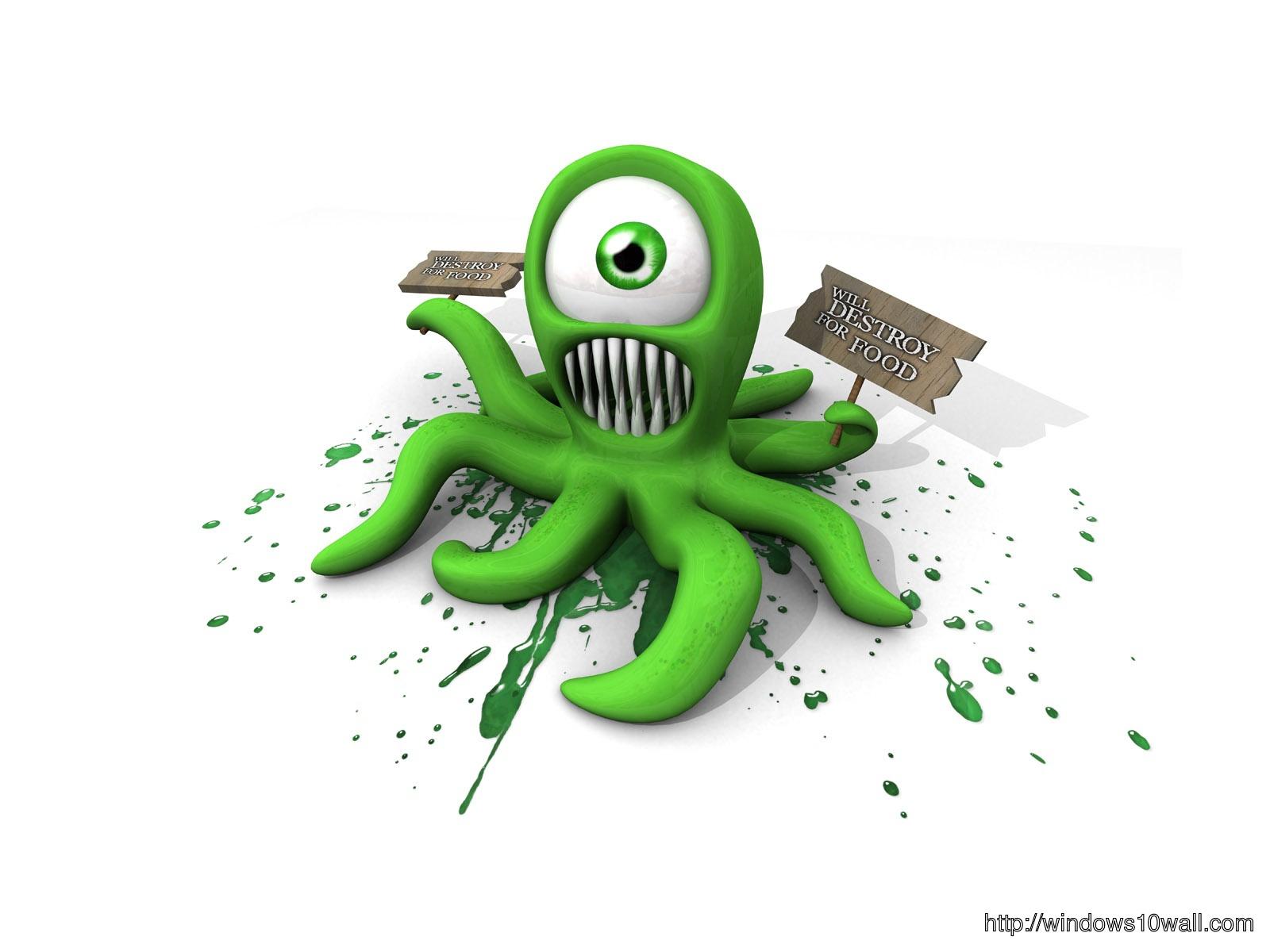Cartoon Pics 3D Octopus