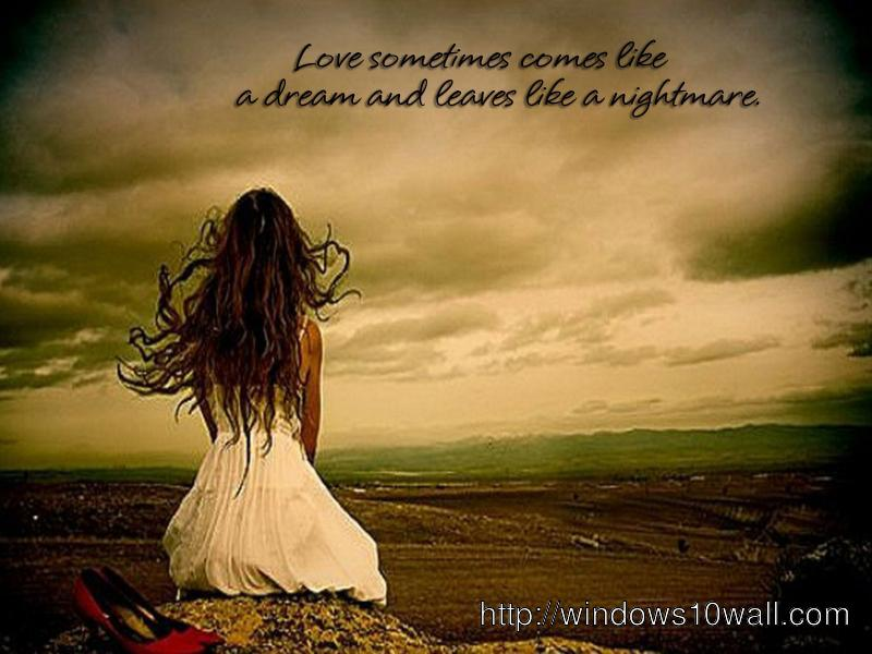 Sad love image with quote download windows 10 wallpapers sad love image with quote download voltagebd Images