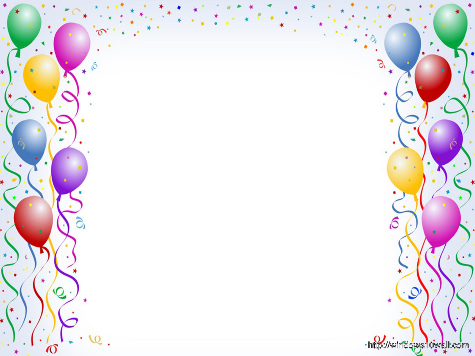Happy Birthday With Baloons Background Wallpaper
