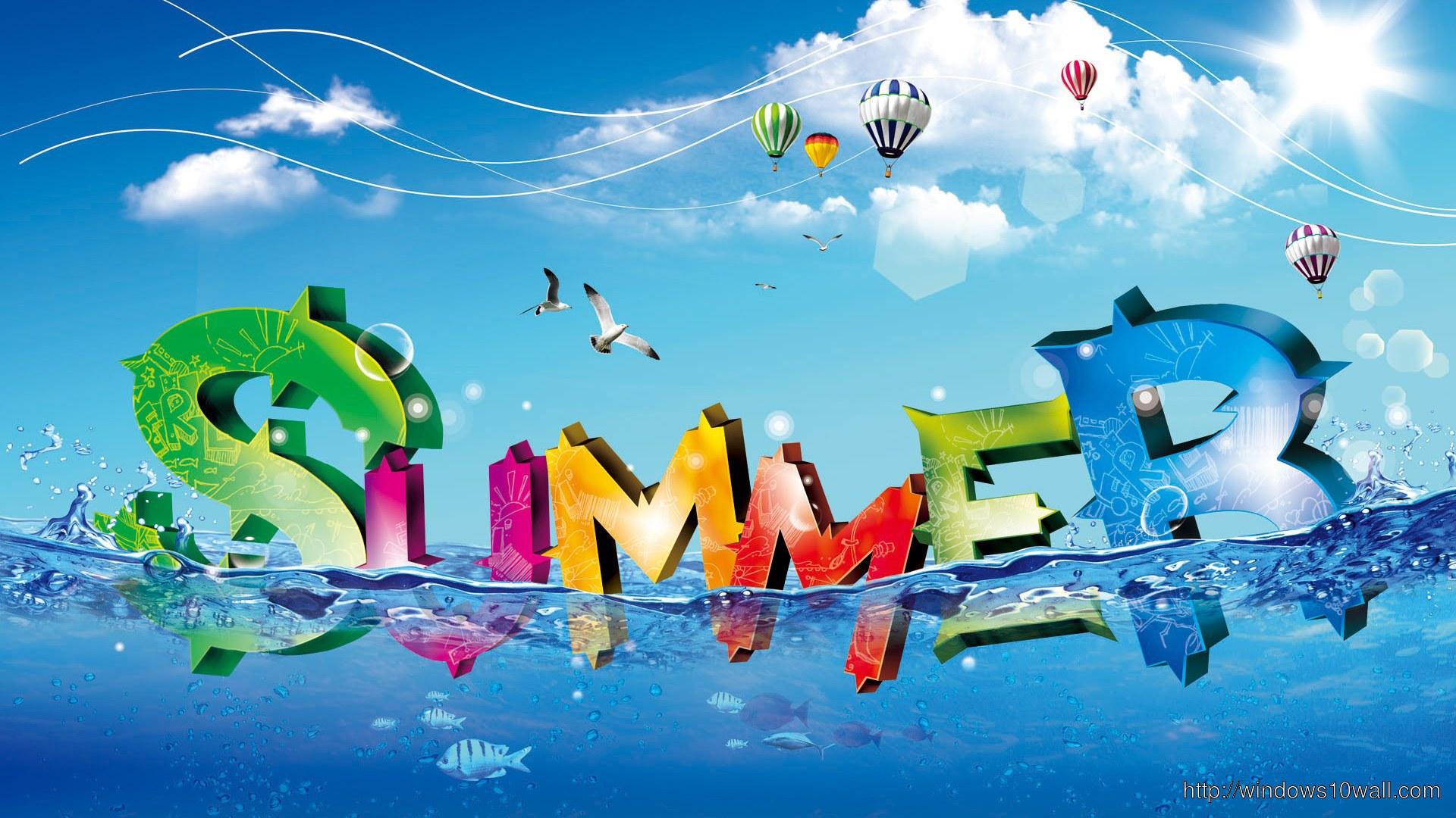 Creative Summer Background Wallpaper