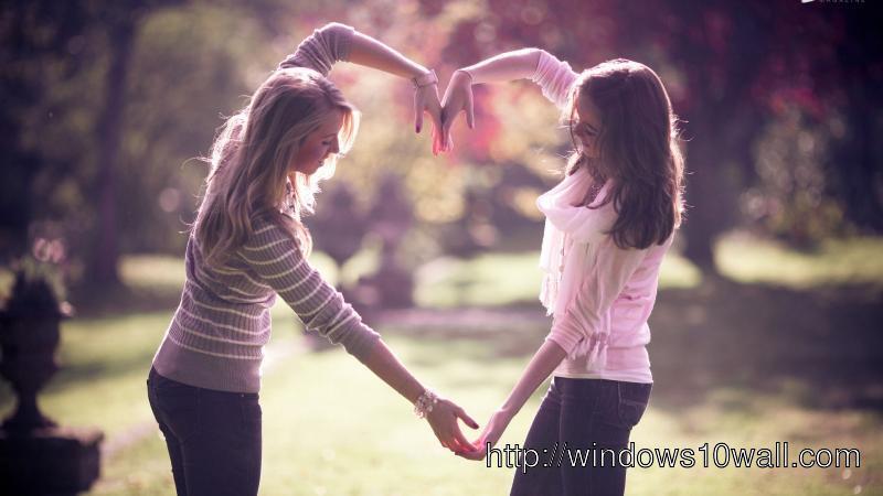 Cute Girl Friendship Photo
