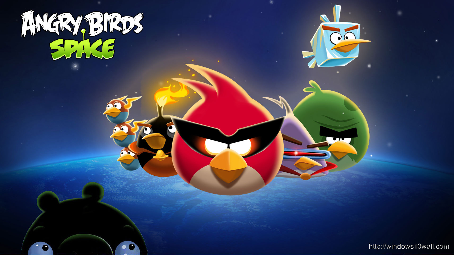 Angry Birds Space Hd Background Wallpaper