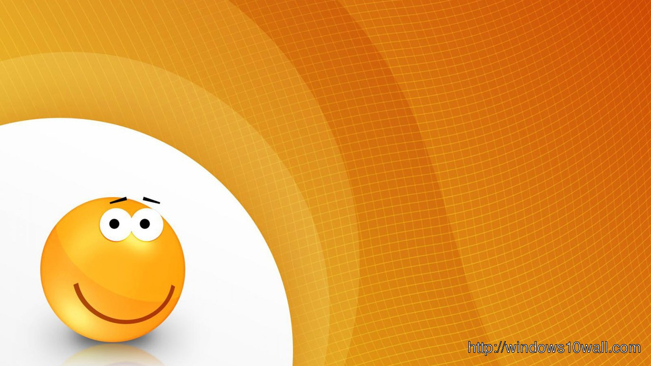 3D Smiley Orange Twitter Background Wallpaper