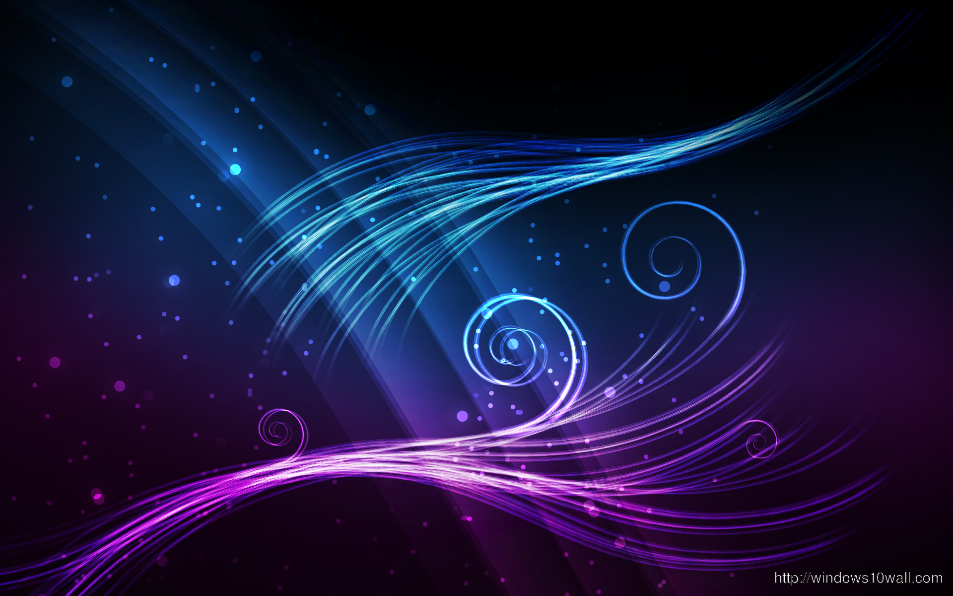 Blue Purple Glow Wallpaper