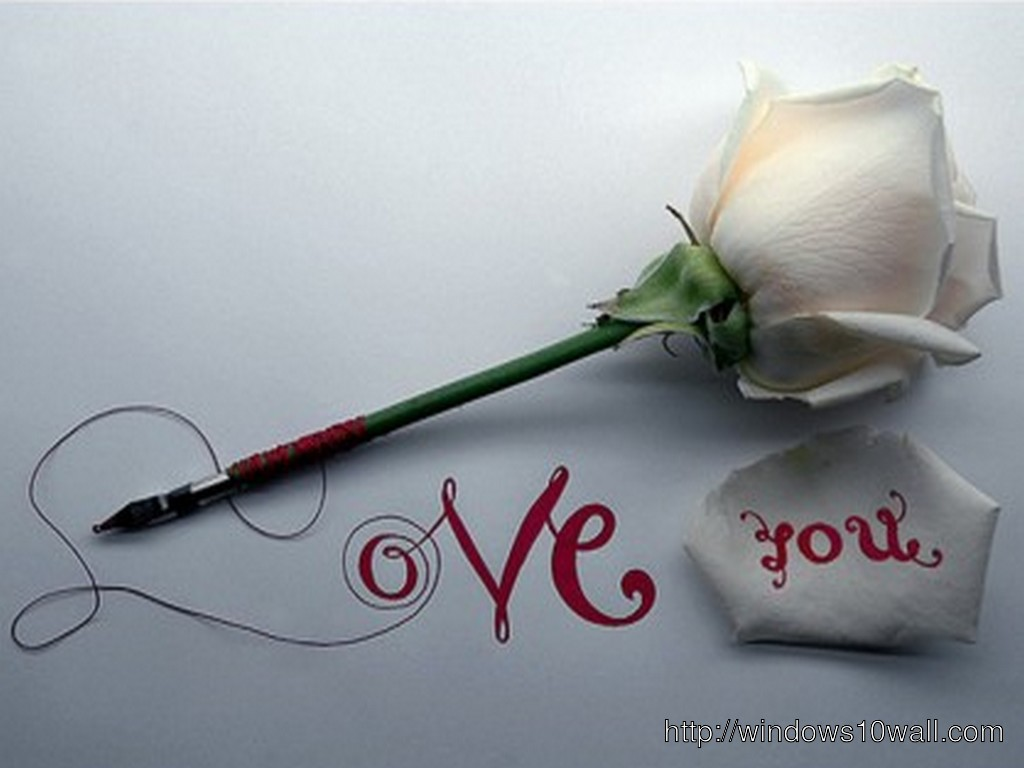 Latest Love You Wallpaper With Rose