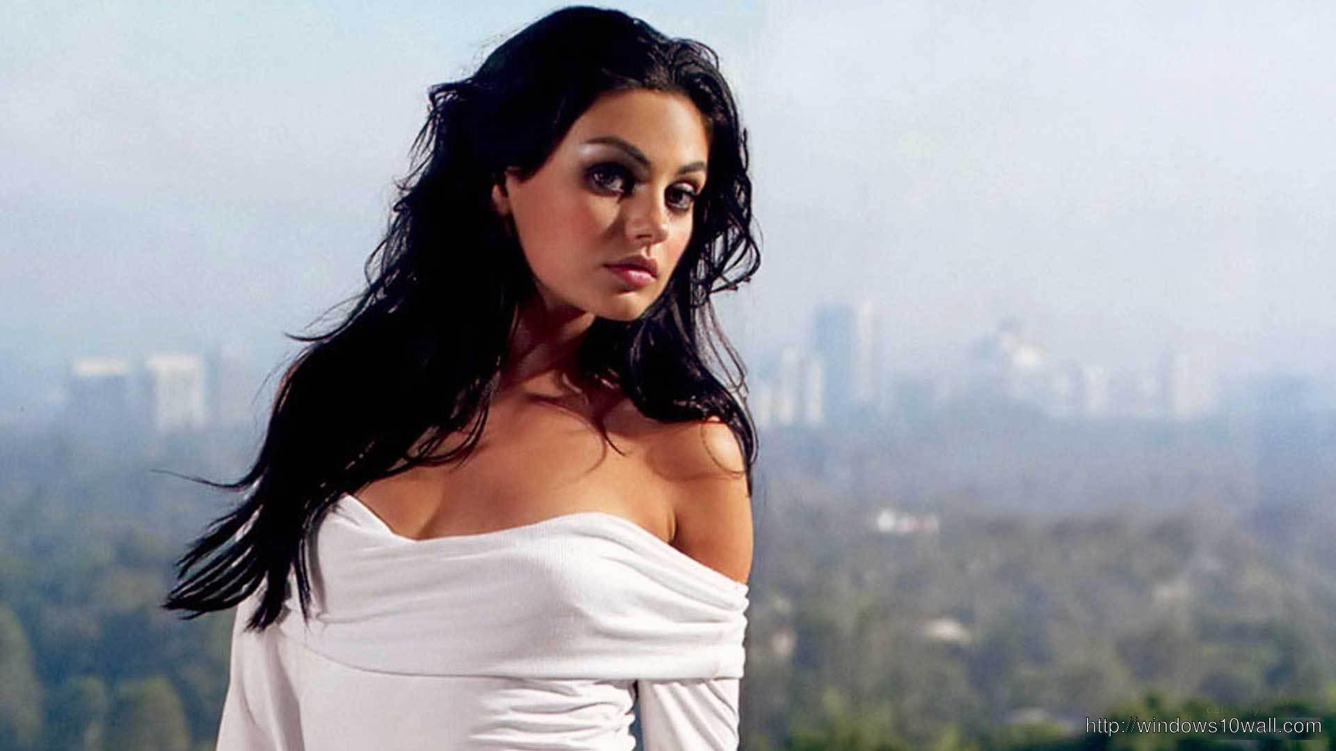 Mila Kunis Hot Background Wallpaper
