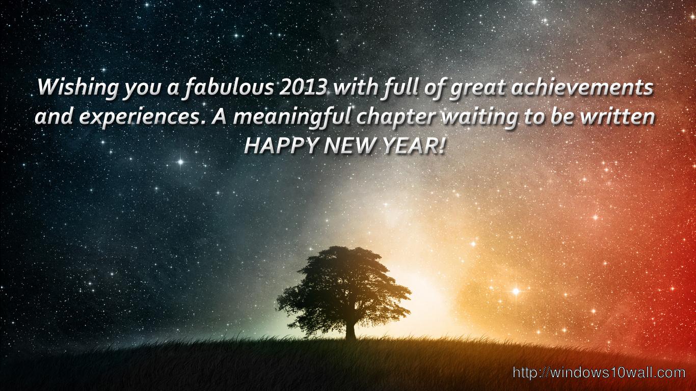 Happy New Year Quote Desktop Background Wallpaper