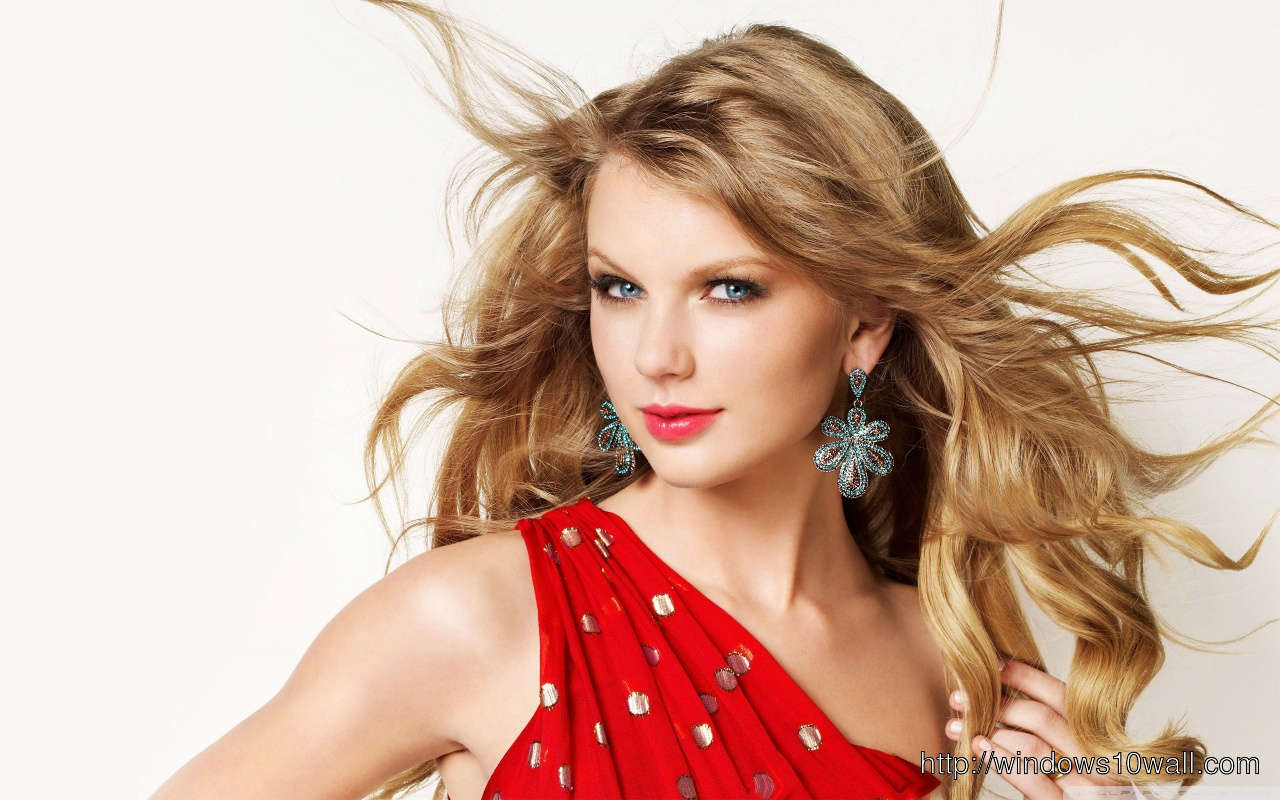 Taylor Swift In Red Hot Background Wallpaper