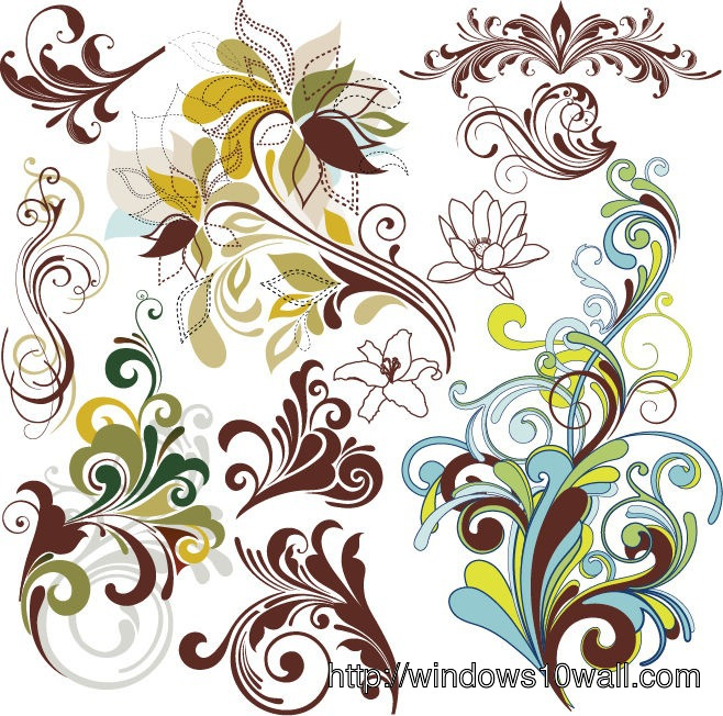 Cool Vintage Floral Design Background Wallpaper