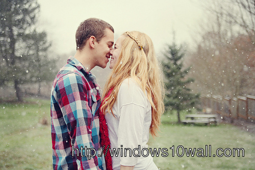 Young Boy And Girl Together Forver Wallpaper