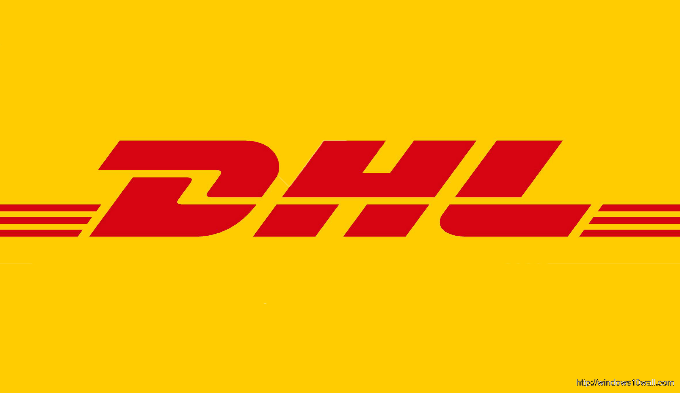 Dhl Express Yellow Logo Desktop Background Wallpaper