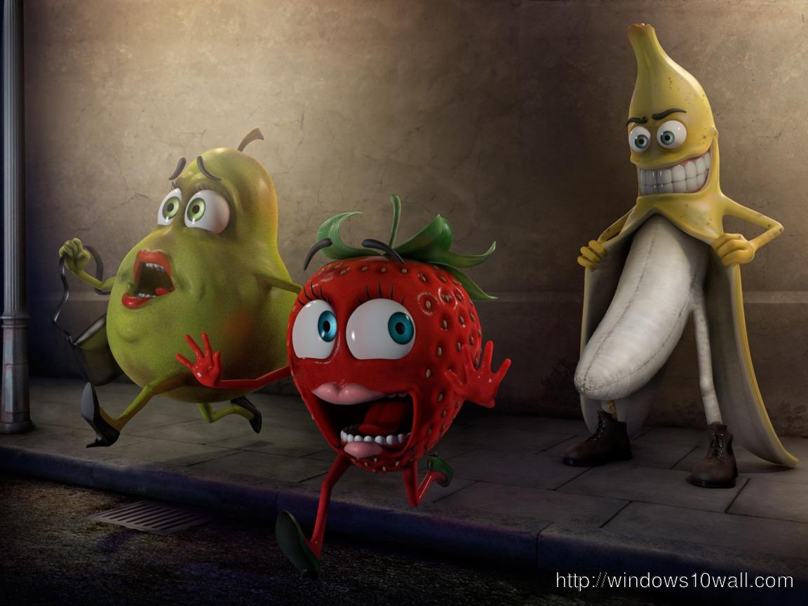 Funny Banana Goes Crazy Wallpaper