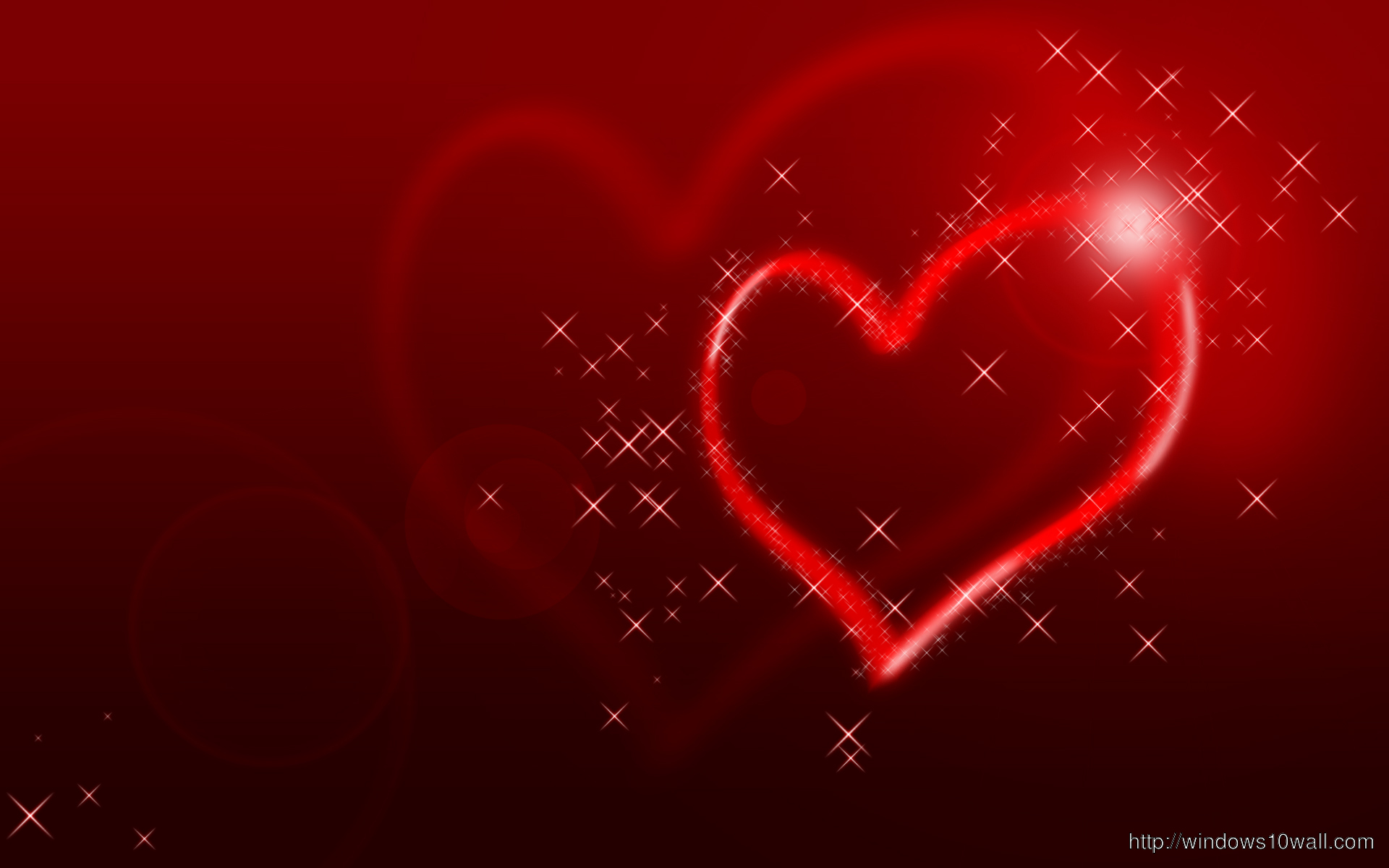 Glittering Heart Background Wallpaper