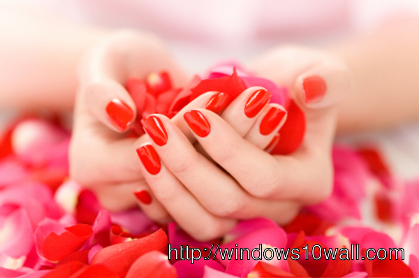 Picture of Hands with Roses Background Wallpaper