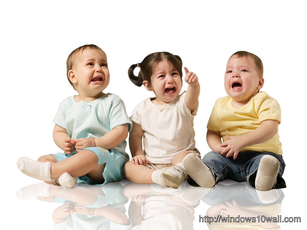 3 Kids Crying Background Wallpaper