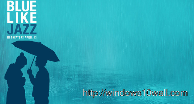 Love In Rain Blue Like Jazz Twitter Background Wallpaper