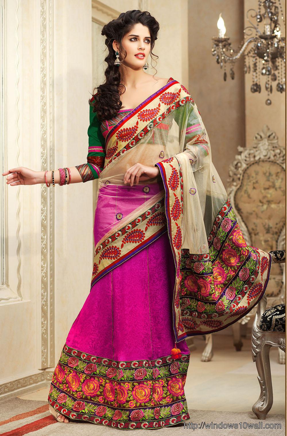 Latest fashion Ideas Lehenga Saree Majenta