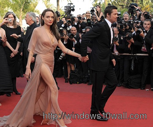 Gorgeous Stunning Awesome Angelina Jolie in Gown Wallpaper