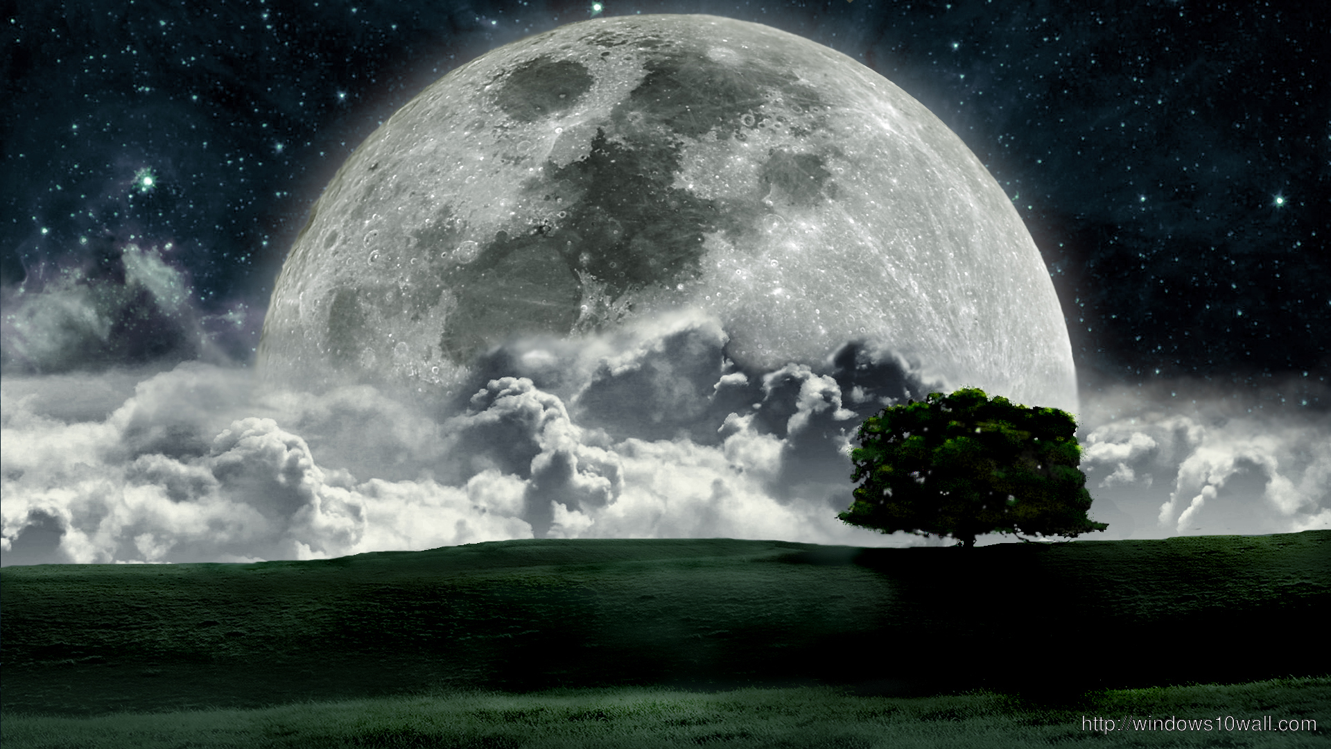 Awesome Moon Background Wallpaper