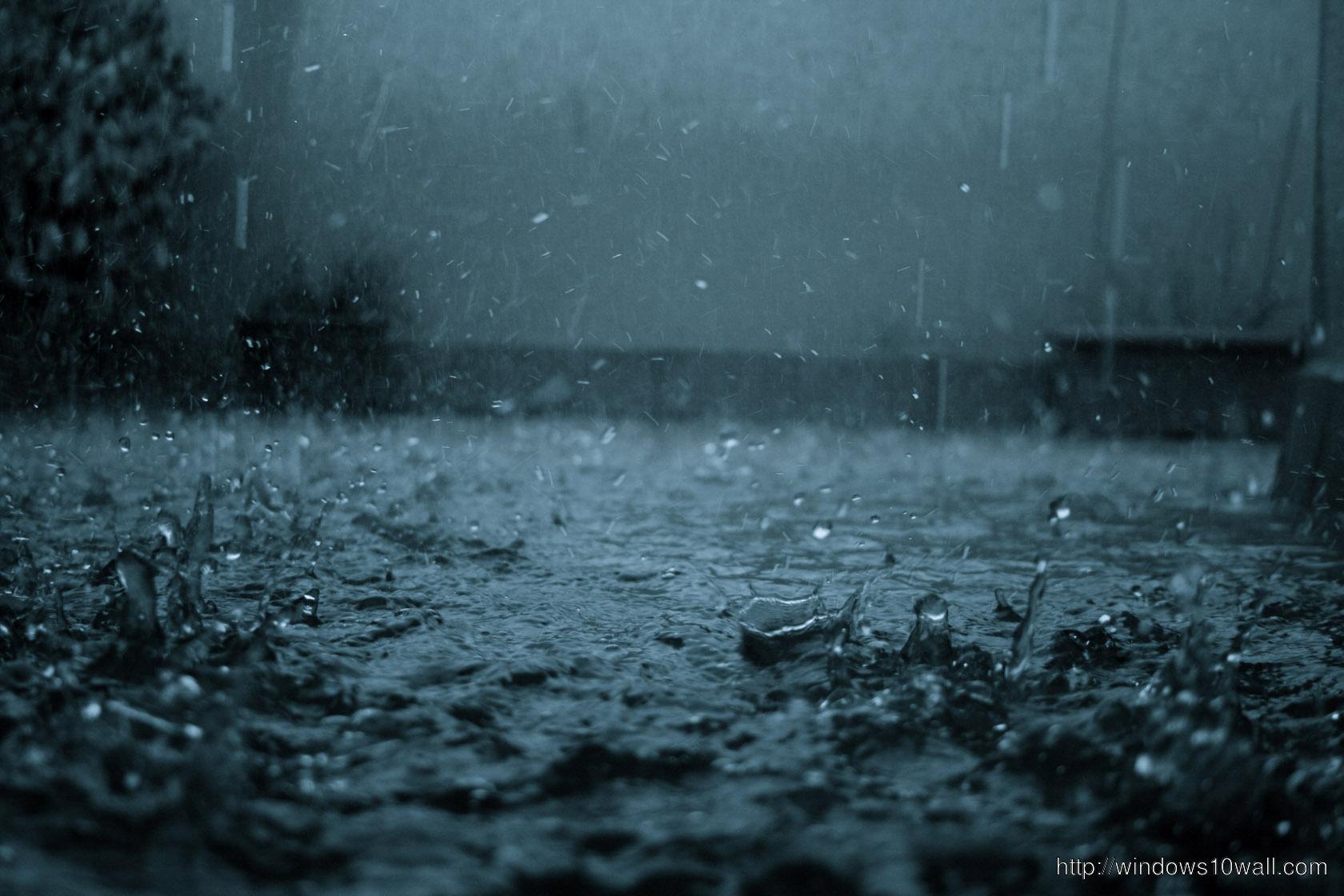 Best Black Rain Fall Night View Wallpaper