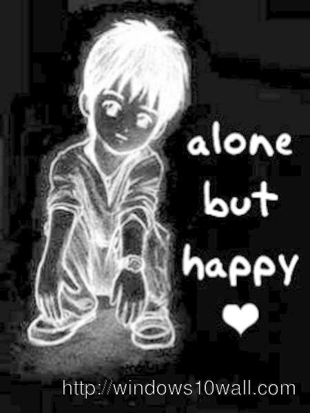Alone but Happy Mobile Wallpaper