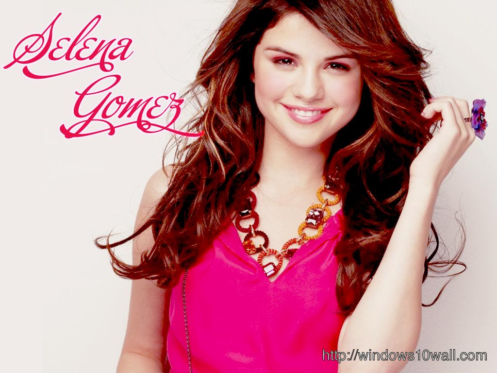 Actress Selena Gomez in Pink Style Gorgeous Wallpaper