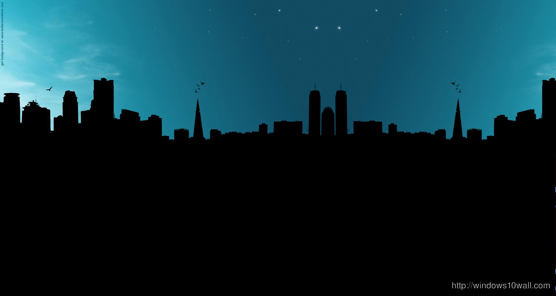 City In Night Twitter Background Wallpaper