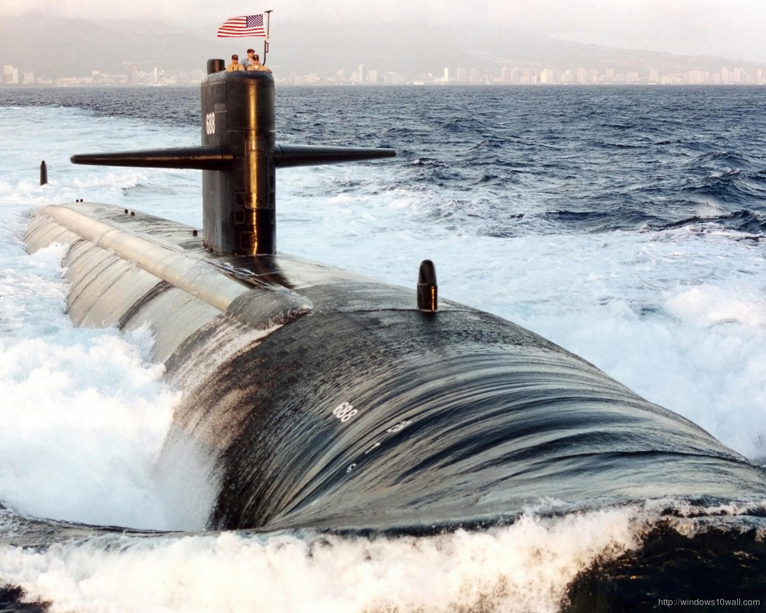 US Navy Submarine HD Widescreen Background Wallpaper