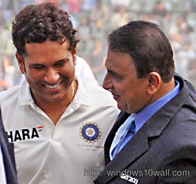 Sachin Tendulkar n Sunil Gavaskar in 200th last test match