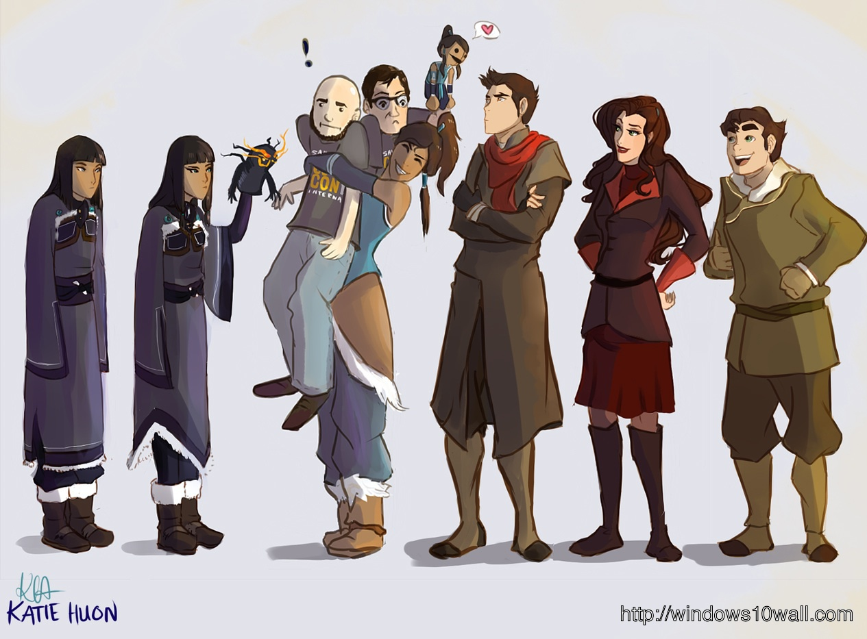 The legend of korra characters background wallpaper windows 10 the legend of korra characters background wallpaper voltagebd Image collections