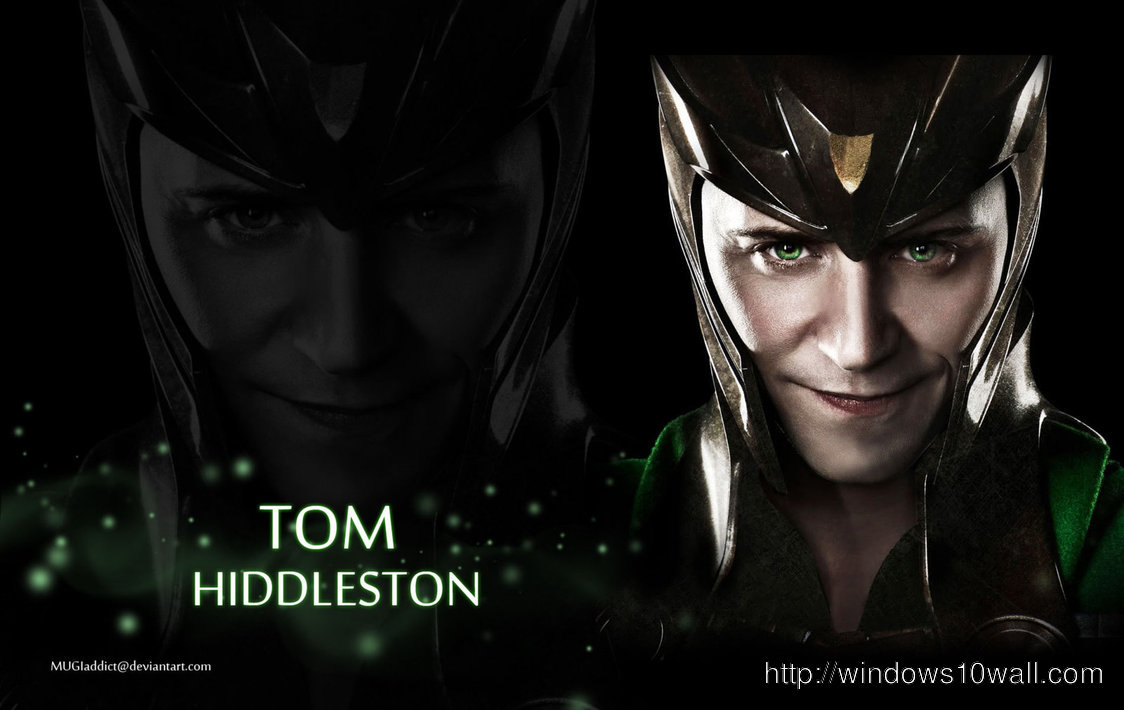 Tom Hiddleston as Loki Wallpaper