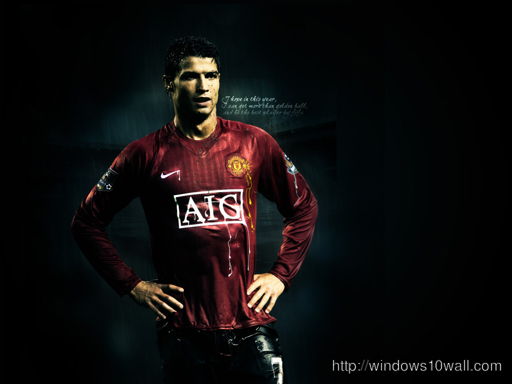 Cristiano Ronaldo Wallpaper in Black Background Wallpaper