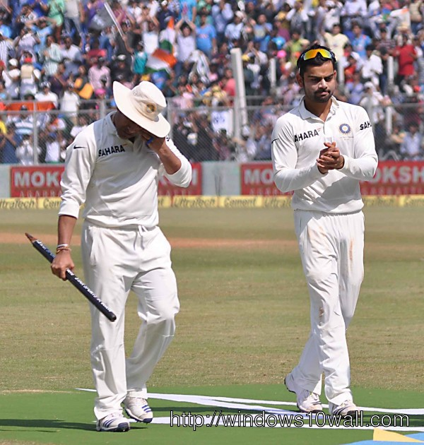 Sachin Tendulkar Getting Eyes filled with Tear in Last Match