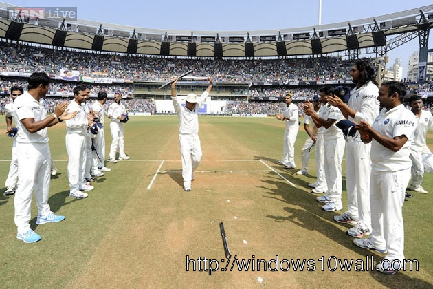 Sachin Tendulkar n teammates giving guard of honor