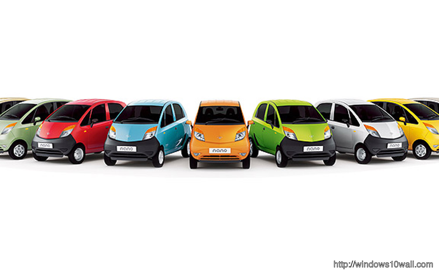 2012 Tata Nano Rainbow Wallpaper