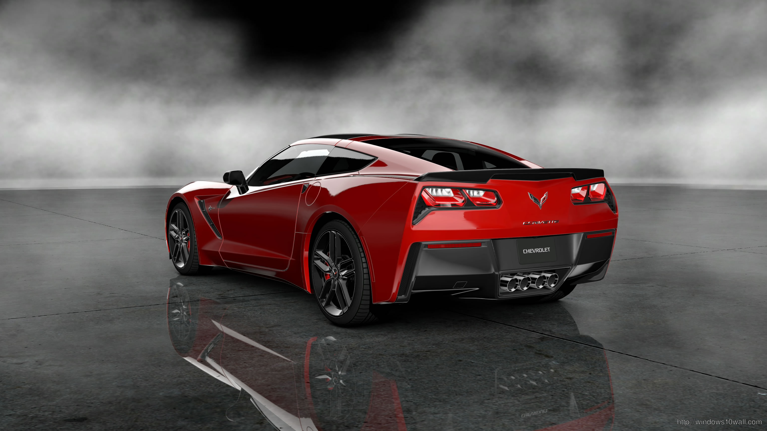 2014 Red Corvette HD Background Wallpaper
